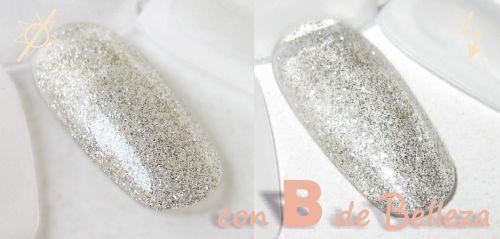 Silver moon glitter swatch