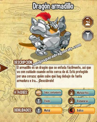 imagen de las caracteristicas del dragon armadillo