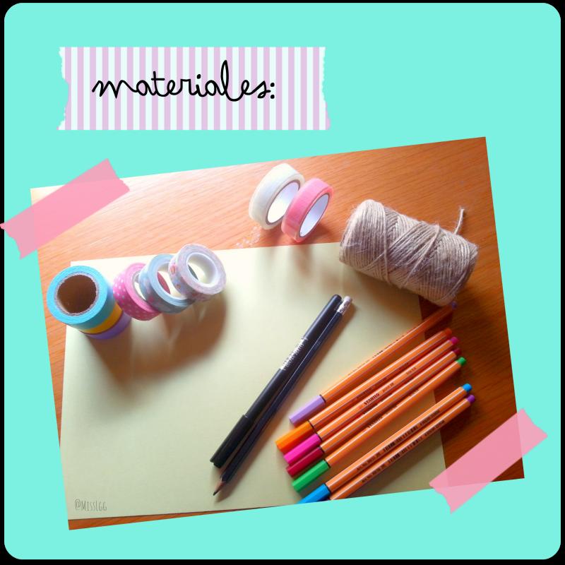 materiales para hacer una tarjeta de cumpleaños con washi tape
