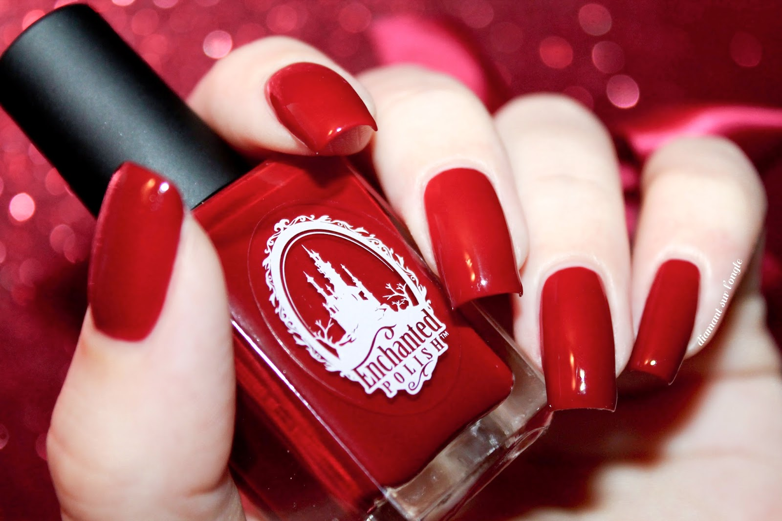 "Swatch of the nail polish ""Valentine"" from Enchanted Polish"