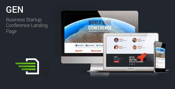 Responsive Landing Page for Seminars
