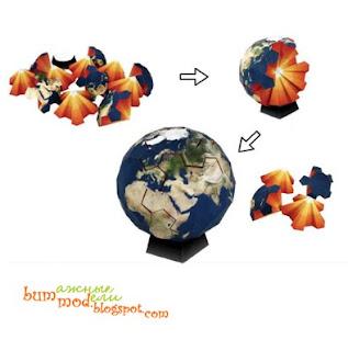 бумажная модель земной шар