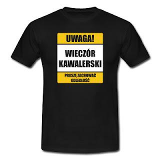 Koszulka Uwaga wieczór kawalerski