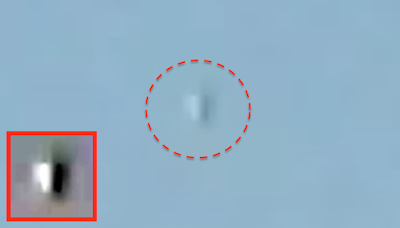 Silver UFO Caught Hovering Above Texas, UFO Sightings