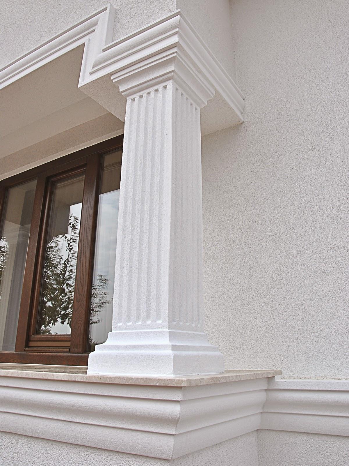 Coloane decorative patrate din polistiren penrtu fatade case