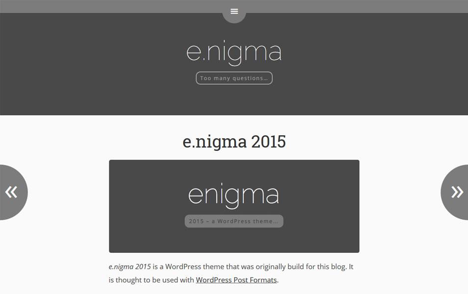E.Nigma 2015 Responsive WordPress Theme
