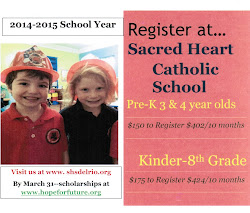 2014 - 2015 Register at Sacred Heart Catholic School
