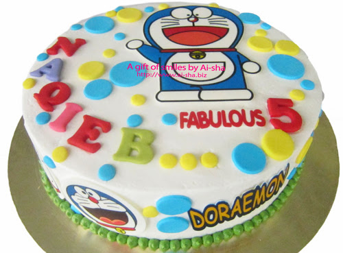 Birthday Cake Edible Image Doraemon