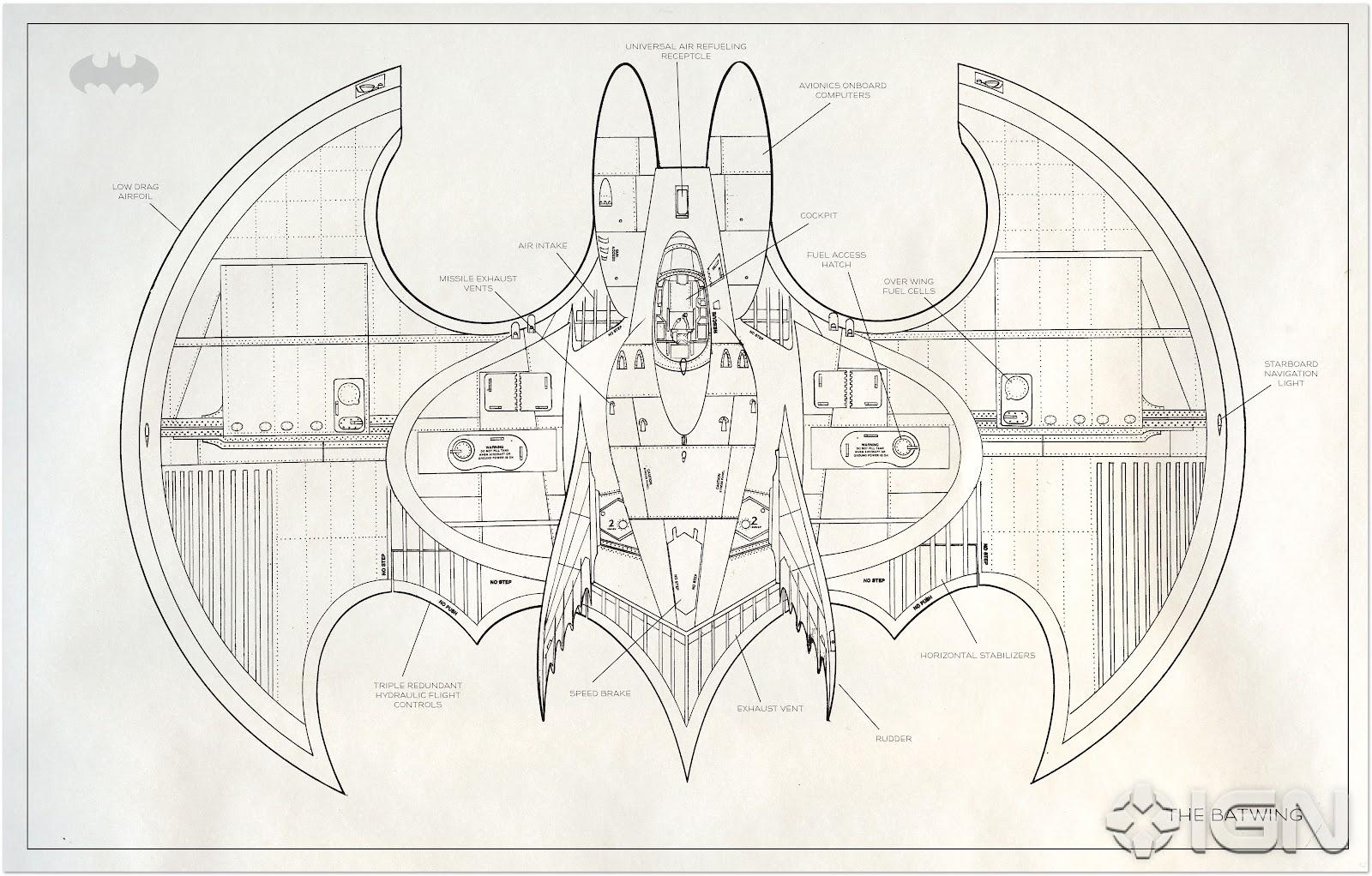 The dork review rob 39 s room more batman blueprints for Web design blueprints