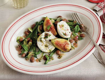 Fresh Fig, Mozzarella and Bean Salad with Basil Dressing