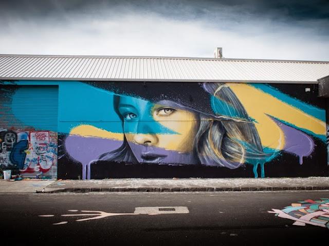 New Street Art Murals By Australian Artist RONE in Juarez, Mexico and Brunswick, Australia. 2