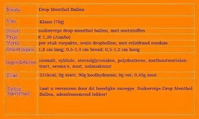 Drop Menthol Ballen