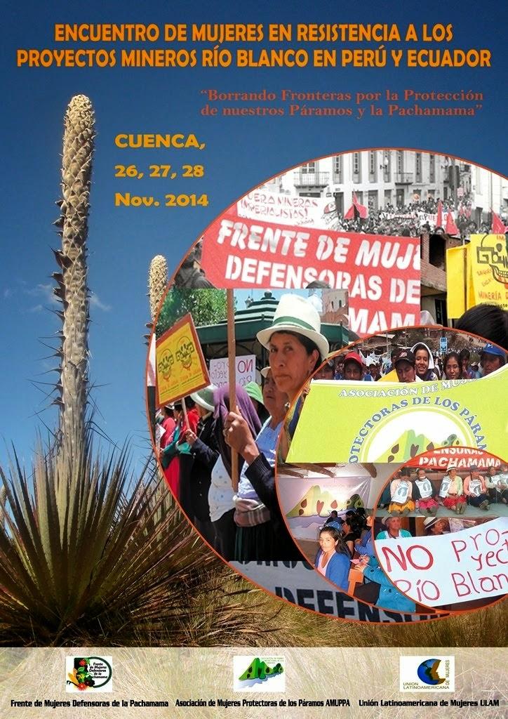 Encuentro de Mujeres en Resistencia a los proyectos Río Blanco en Perú y Ecuador