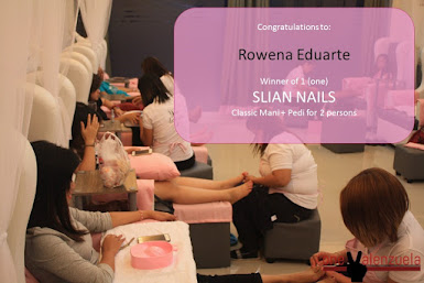 SLIAN NAILS GIVEAWAY WINNER