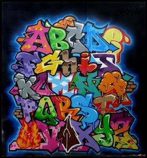 Vision design | graffiti Alphabet letter A - Z