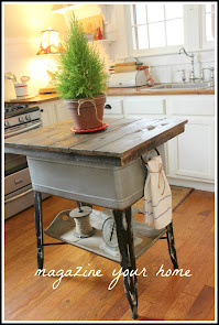 Wash Tub Kitchen Island