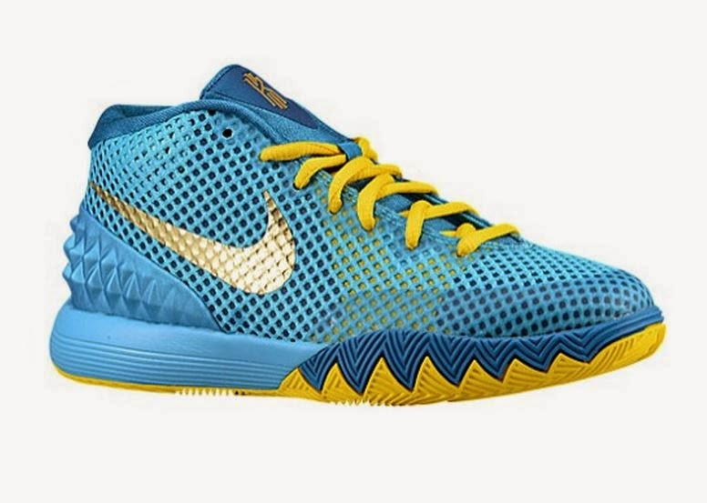 THE SNEAKER ADDICT: Nike Kyrie Irving 1 Blue/Yellow ...