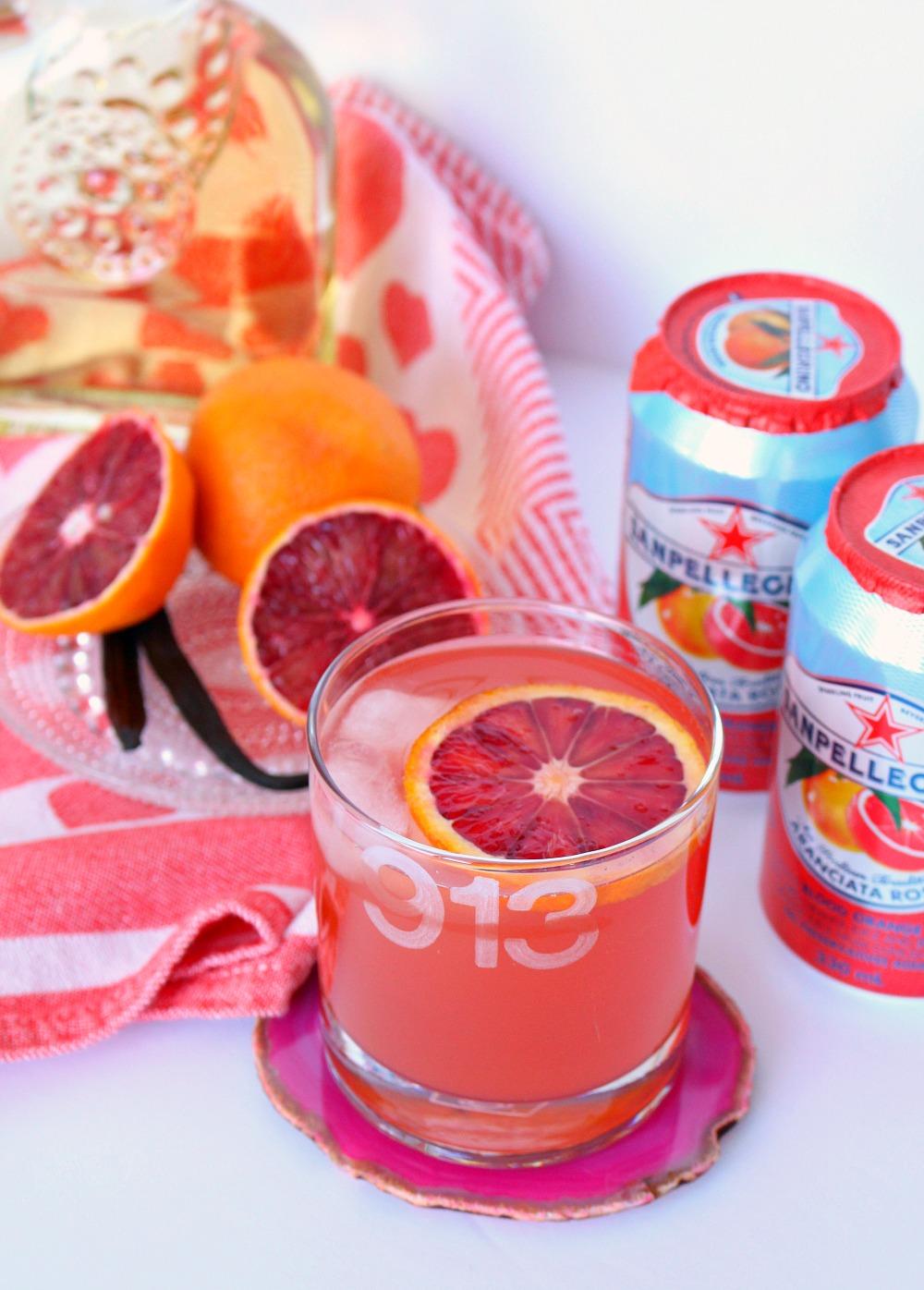 Blood Orange Vanilla Vodka Drink