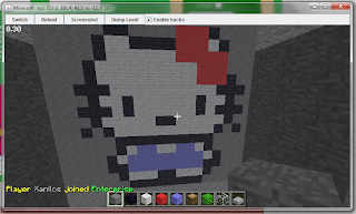 Cute Hello Kitty on Minecraft