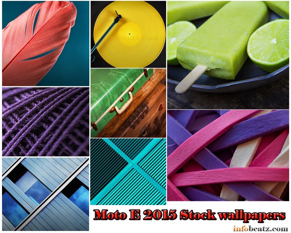 Moto E 2015 Stock wallpapers.
