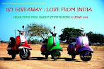 @23 june : 1st GIVEAWAY:Love Fron INDIA