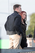 Sneak Peek new images of Russian spy 'Natasha Romanoff' aka 'Black Widow' .
