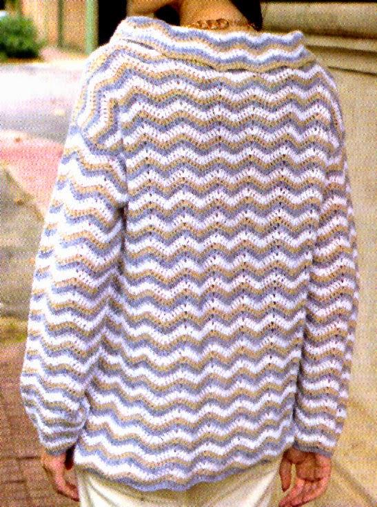 sueter optico tejido en crochet TRAS