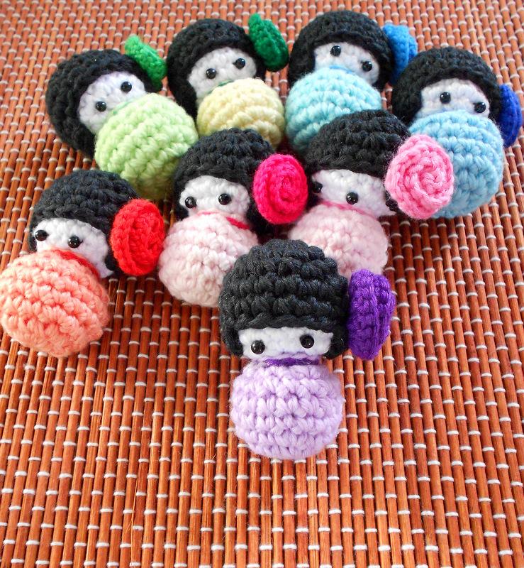 Amigurumi Japanese Doll : Firefly Crochet: Amigurumi Japanese Kokeshi dolls