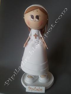 muñeca de comunión personalizada