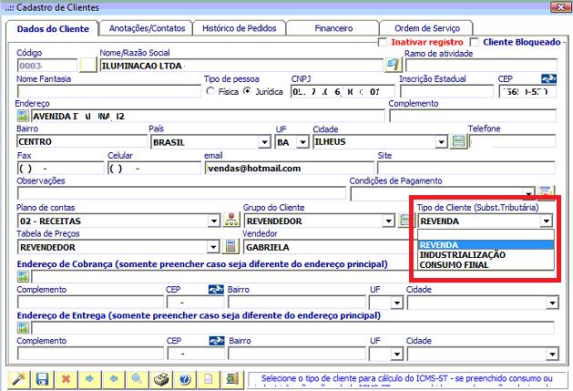 NeXT ERP ICMS ST calculo automático da substituição tributária
