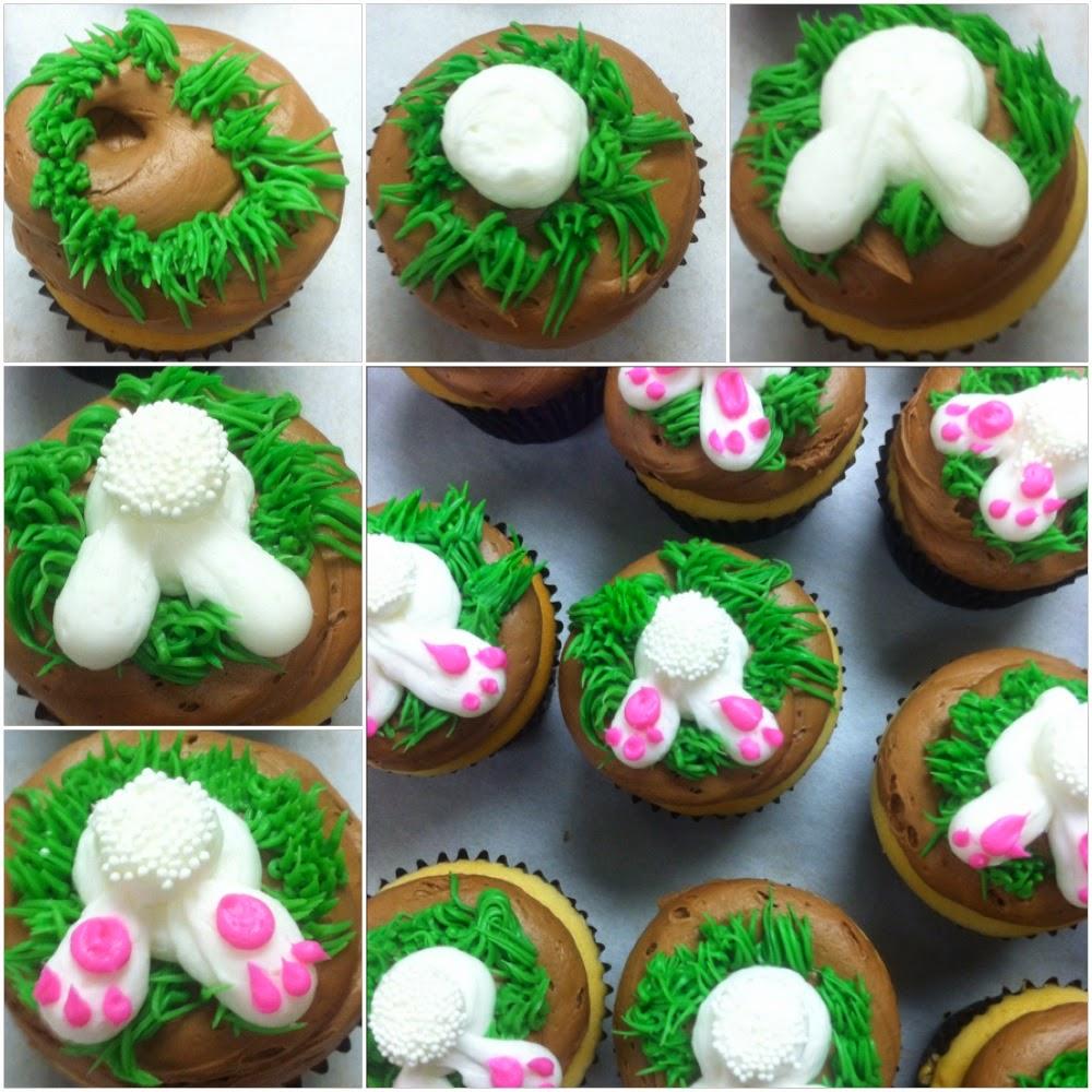 Lola Pearl Bake Shoppe Anatomy Of Easter Bunny Butt Cupcakes