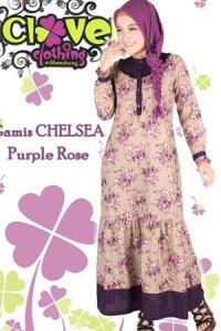 Clover Clothing Chelsea Rose - Purple (Toko Jilbab dan Busana Muslimah Terbaru)
