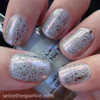 Pahlish Gumdrop Rooftop over KBShimmer Fleece Navidad