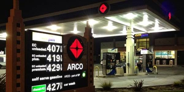 BP Arco AmPm gas location