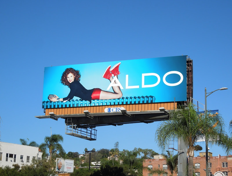 Aldo Shoes red hotpants billboard FW 2012
