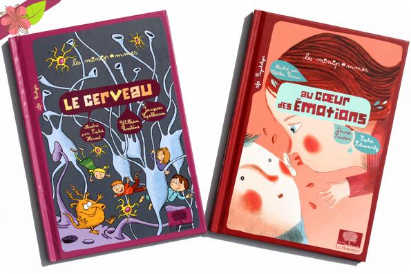 Le cerveau et Au cœur des émotions - Les minipommes - éditions Le Pommier