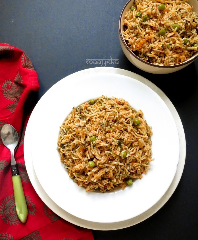 pea and dill rice