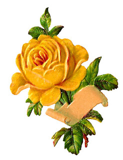printable label rose yellow