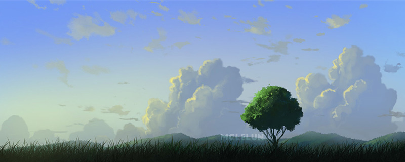 landscape painting with default brush
