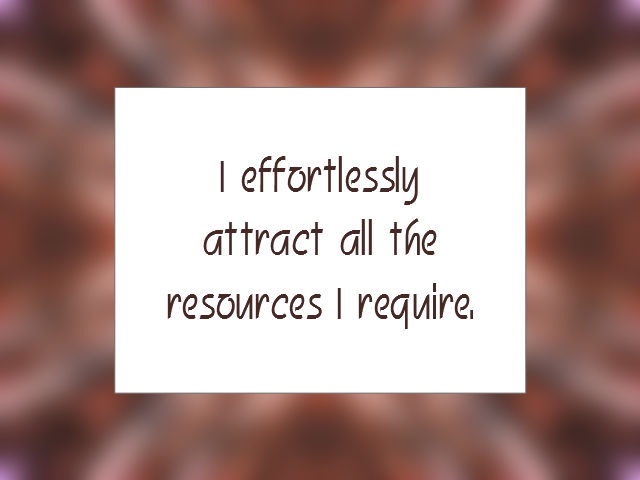 RESOURCES affirmation