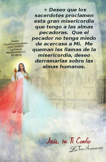deseo de jesus, que los sacerdotes hablen de su misericordia
