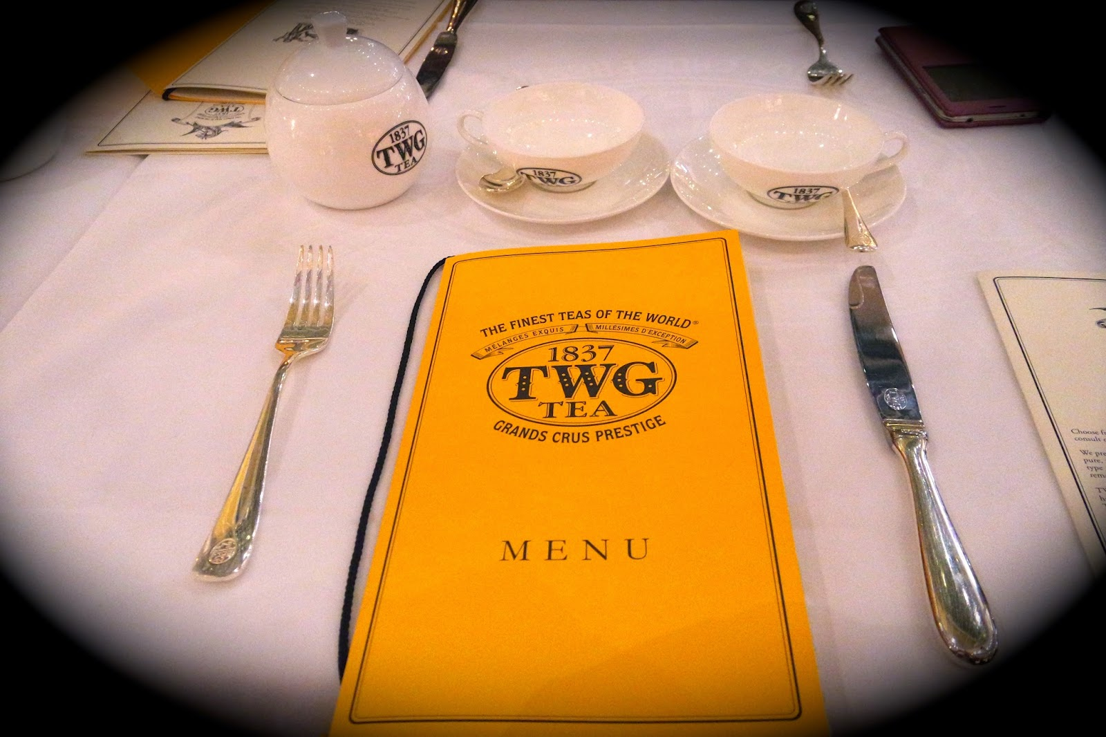 TWG Tea Salon MBS Menu