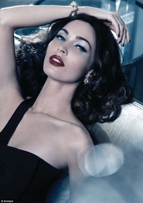Megan Fox Armani Ad Photos