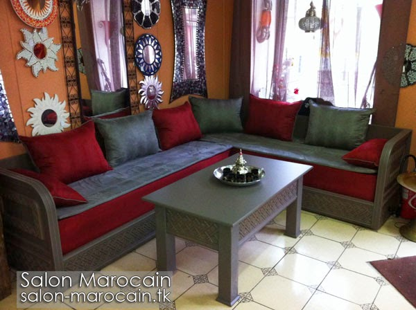 salon marocain moderne gris id es de conception sont int ressants votre d cor. Black Bedroom Furniture Sets. Home Design Ideas