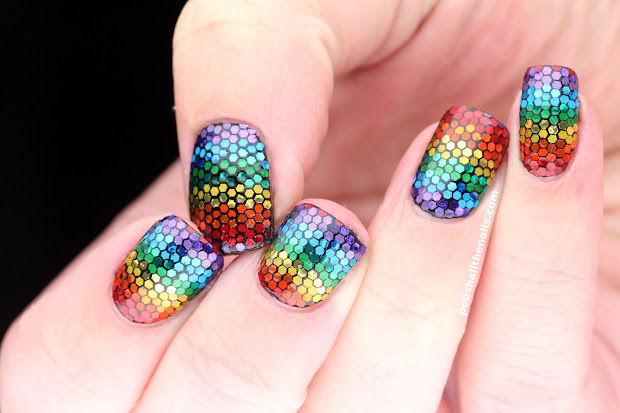 radiant rainbow nail art design