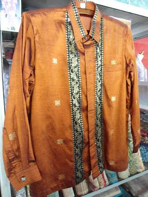 Model Baju Songket Pria Bahan Semi Sutra