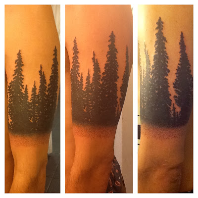 Trees; tattoo; black work