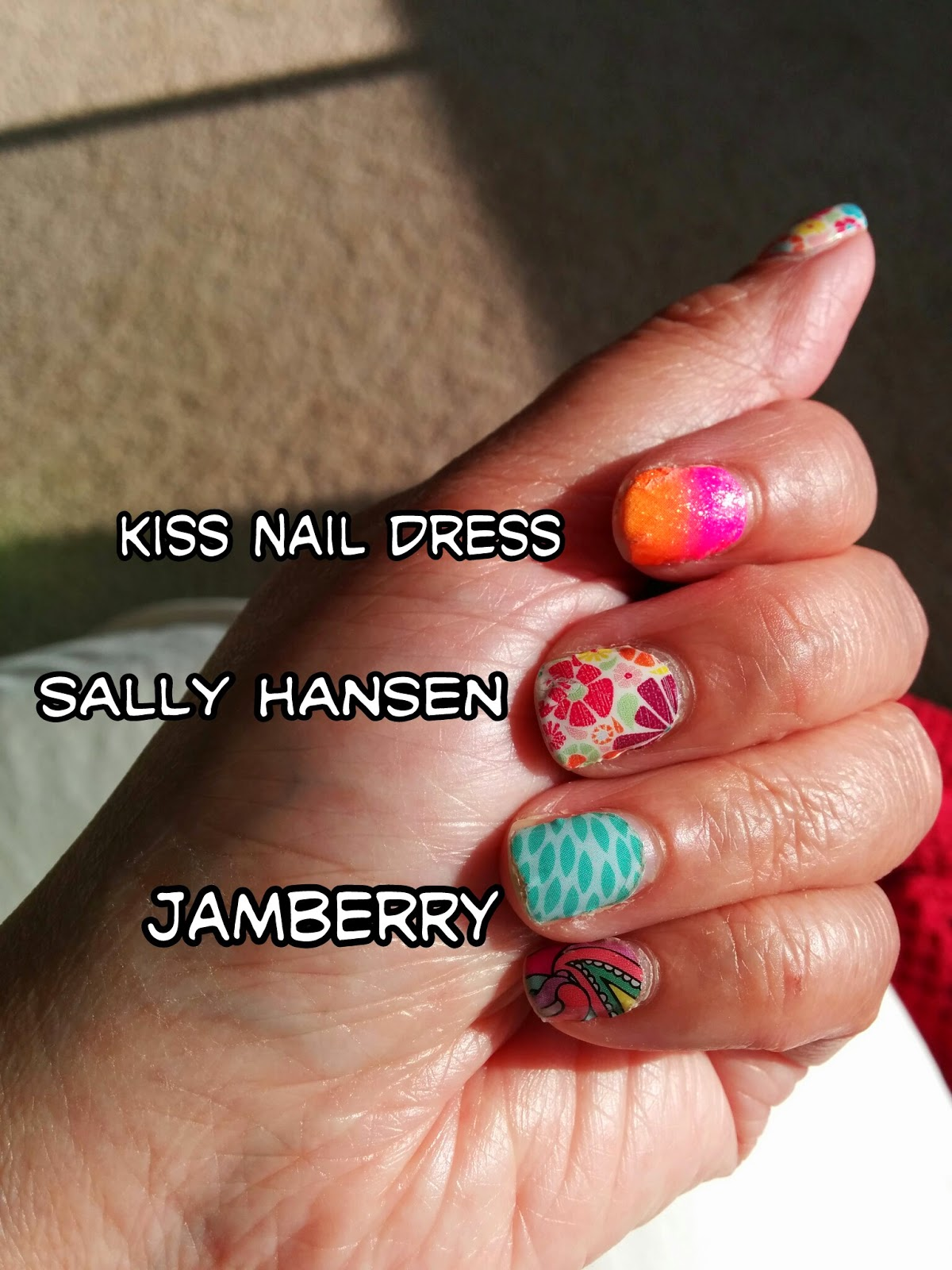 Bird\'s Nest Beauty: NAIL WRAP MANIA - Jamberry vs Kiss Nail Dress vs ...