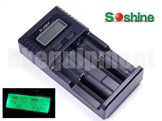Soshine SC-H2 Li-ion NiMH LiFePO4 1.2v 3.7v 18650 AA Battery USB Charger+12v Car