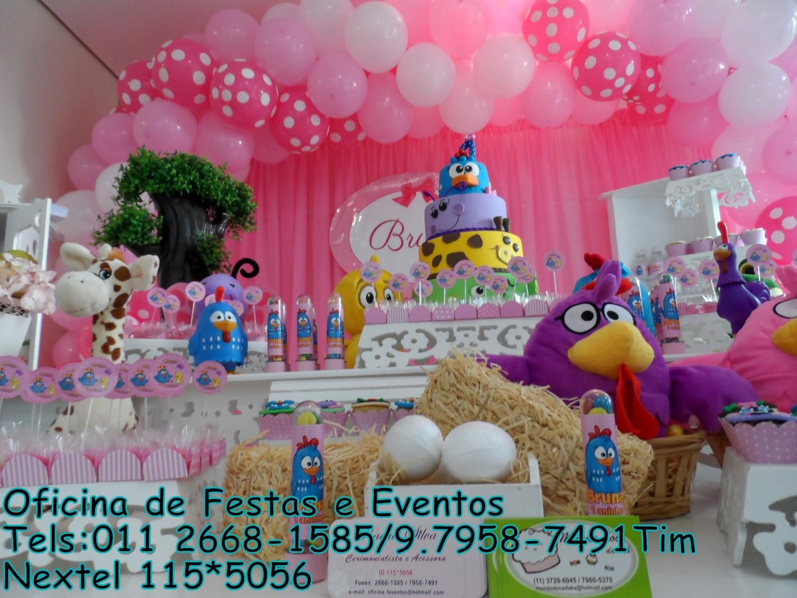 decoracao festa galinha pintadinha rosa:Oficina de Festas e Eventos: Galinha Pintadinha Rosa